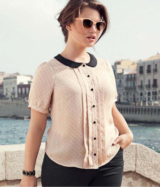 Blus från HM+ från H&Ms höstkollektion 2012, kläder i större storlekar