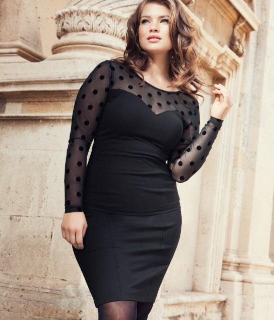 Topp och kjol från HM+ ur H&M hösten 2012s klädkollektion för större storlekar
