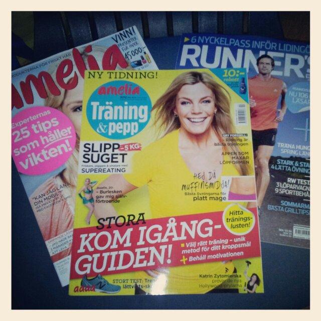 Amelia, Amelia träning & pepp + Runners world, massa träning och vikt i senaste tidningarna med posten