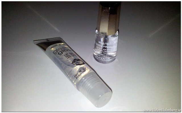 Från Lenson Mavala Nail Polish Minute quick-finish och Glassy Gloss lip Gel, Through The looking Glass