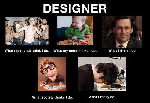 Designers gör och vad omvärlden tror dom gör