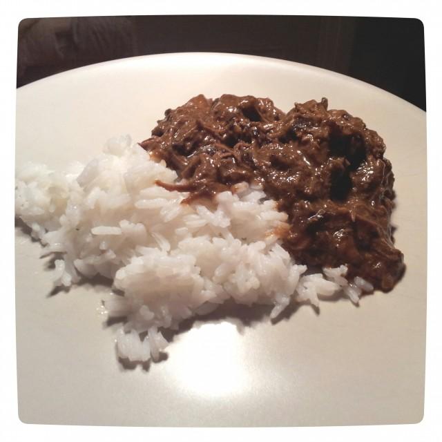 Helens kalops med kokt ris