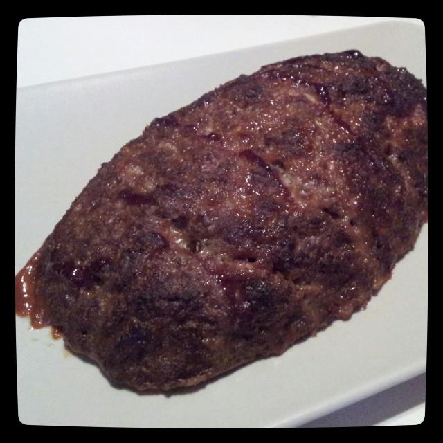 Köttfärslimpa på mager nötfärs, bbq sås, skorpmjöl, laktosfri mjölk, ägg och kryddor