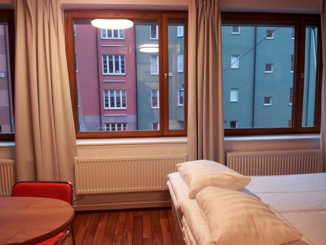 Utsikt från entrén på rummet, på Omena Hotels Stockholm