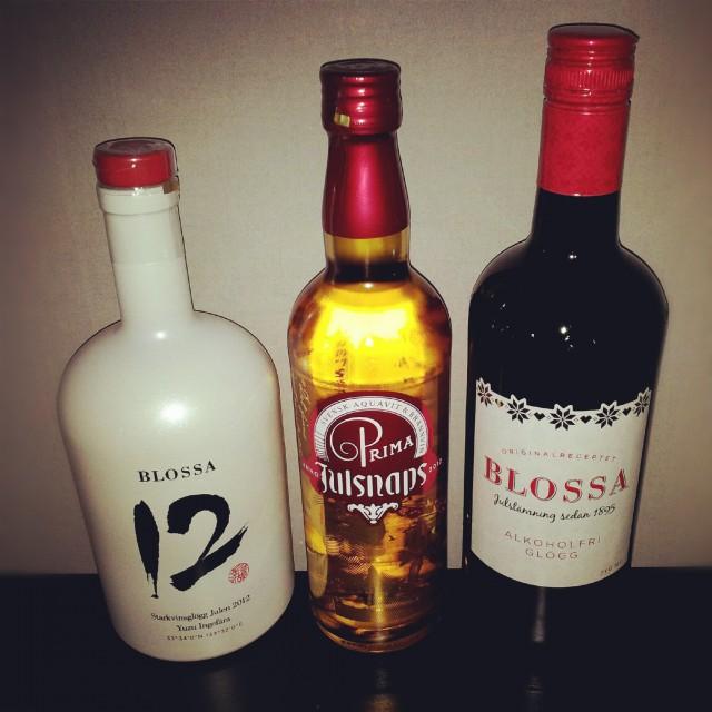 Årets glögg Blossa no 12, årets julsnaps 2012 och alkoholfri Blossa glögg
