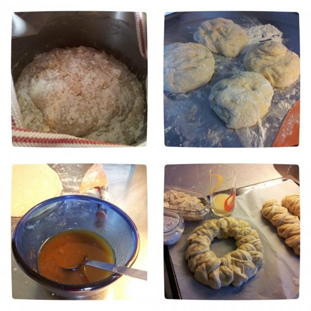 Bakat min första sats av klippta kardemummalängder, recept från Sju sorters kakor