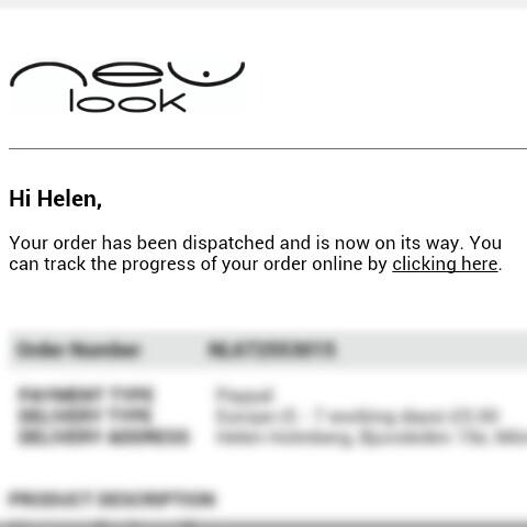 NewLook.co.uk pordorder köp från england är skickat