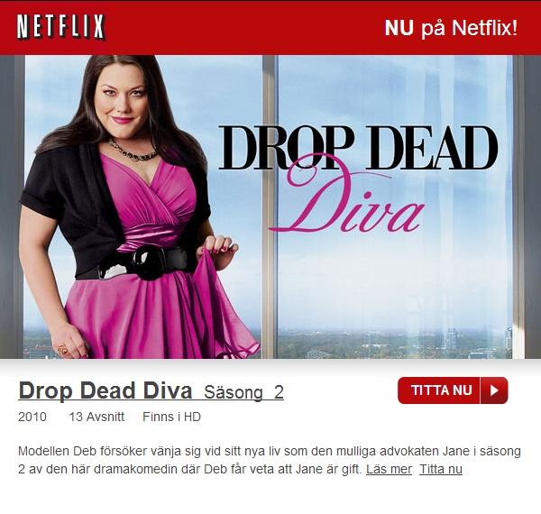 Säsong 2 av Drop Dead Diva finns nu på netflix