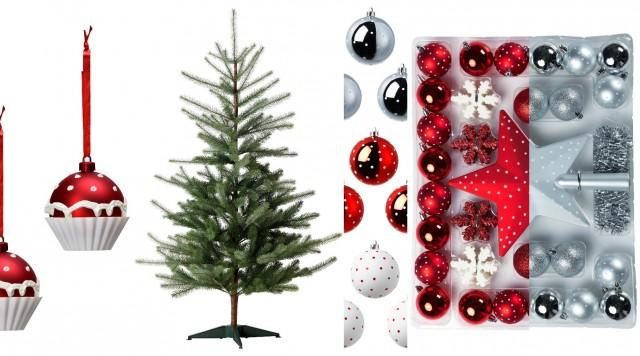 Polkadot och cupcake juldekrationer från IKEAs julmys kollektion 2012