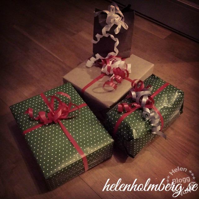 Paketen till julklappsspelet klara