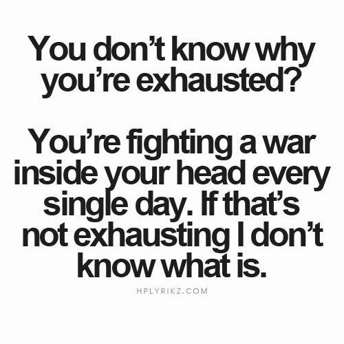 Ett mentalt krig i mitt huvud