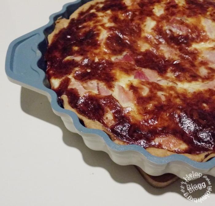 Hemlagad paj med ost och skinka
