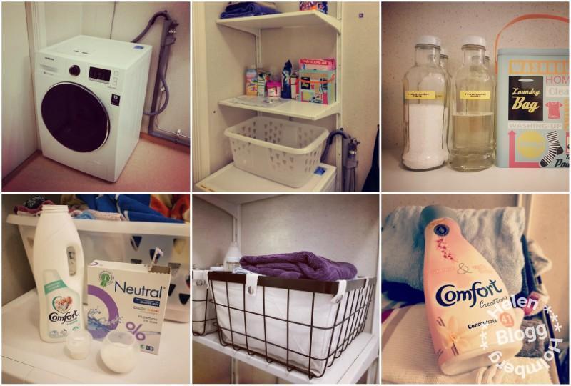 tvättmaskinshörnet på badrummet