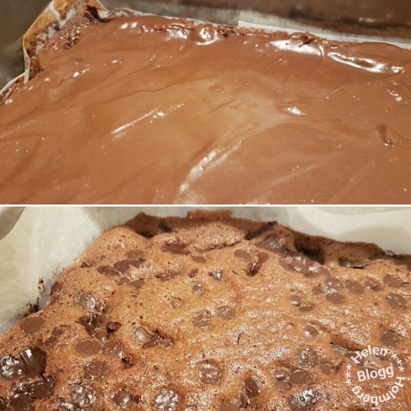 Recept på min nuttekaka (kladdig chokladkaka med glasyr)