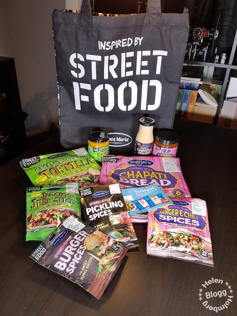 Unboxing av Santa Maria Street food produktnyheter