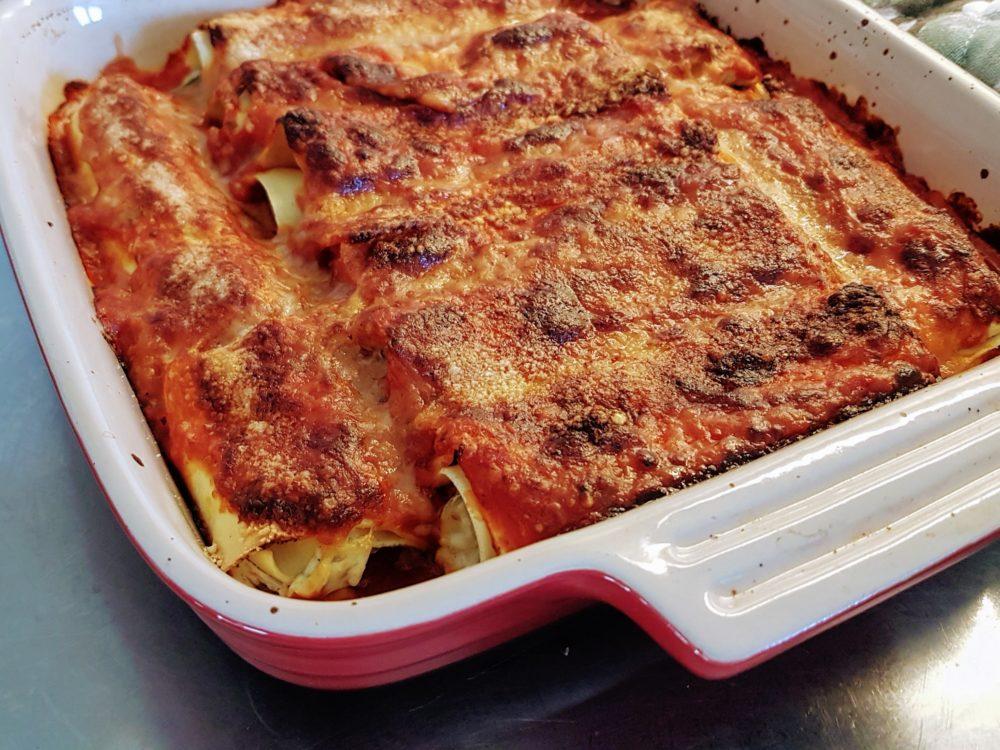 Nytt recept – Canelloni med spenat och ricotta