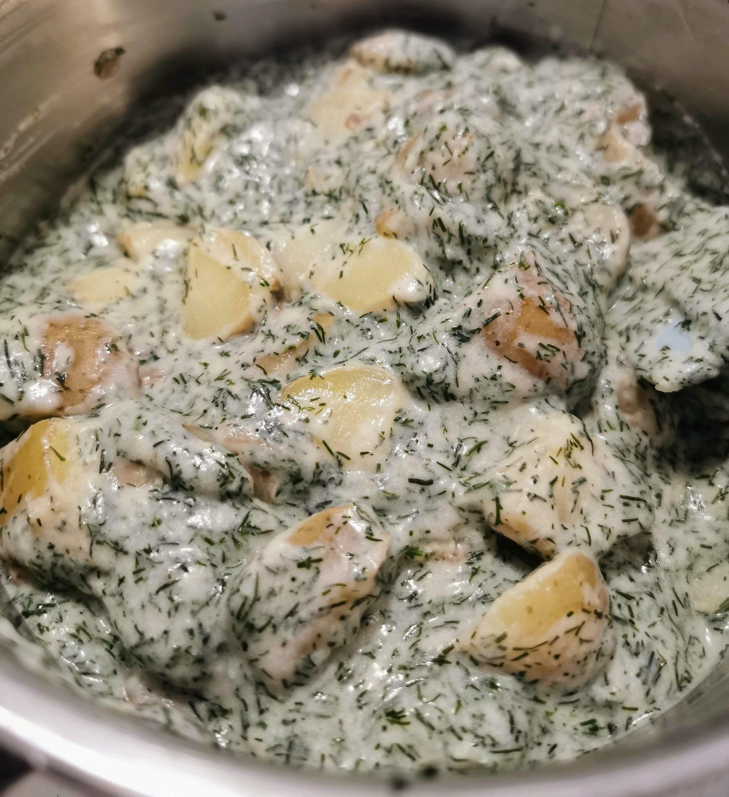 Recept på min dillstuvade potatis